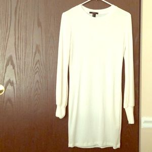 Cream forever 21 knit fitted dress sz SM